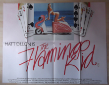 Flamingo Kid, Original UK Quad Poster, Matt Dillon, BEST art of this poster! '87